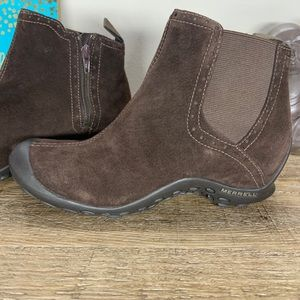 Merrell Size 7 Boots Slip-on Brown